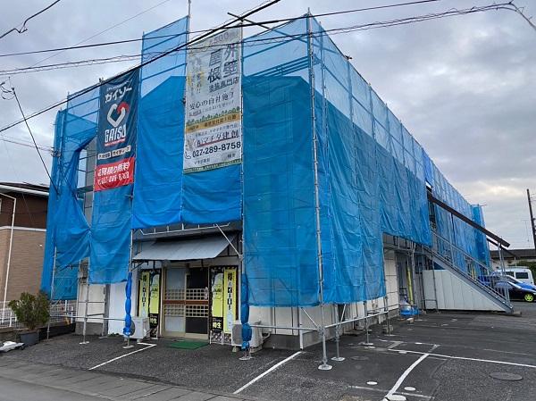 群馬県太田市 Sアパート 外壁塗装・屋根塗装 足場組み立て 高圧洗浄 (4)