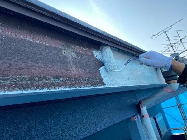 群馬県太田市 Sアパート 外壁塗装・屋根塗装 鼻隠し、破風板塗装 (5)