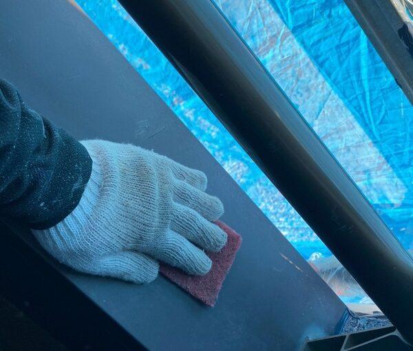 群馬県太田市 Sアパート 外壁塗装・屋根塗装 笠木塗装 GTエポプライマー (9)