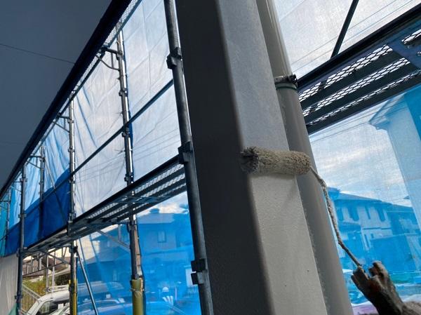 群馬県太田市 Sアパート 外壁塗装・屋根塗装 雨樋、柱、エアコンホースカバー塗装 (9)