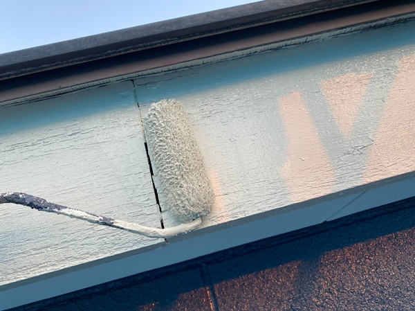 群馬県太田市 Sアパート 外壁塗装・屋根塗装 鼻隠し、破風板塗装 (4)