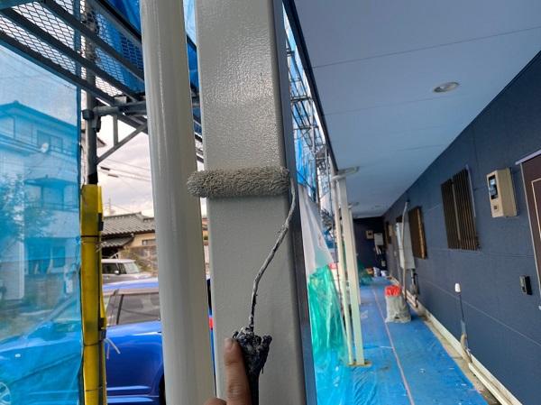 群馬県太田市 Sアパート 外壁塗装・屋根塗装 雨樋、柱、エアコンホースカバー塗装 (5)