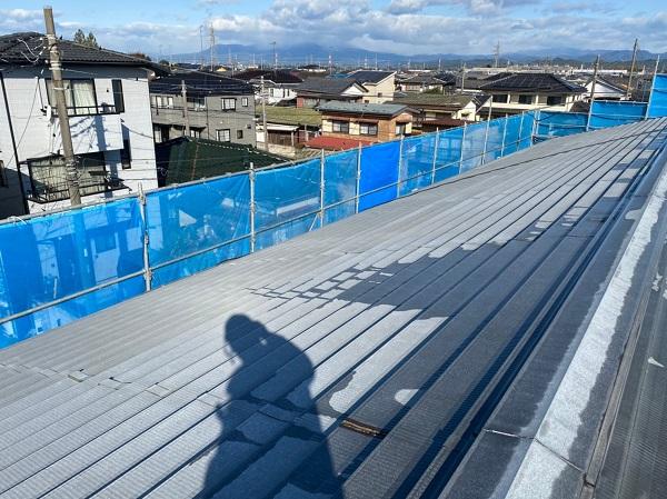 群馬県太田市 Sアパート 外壁塗装・屋根塗装 足場組み立て 高圧洗浄 (5)