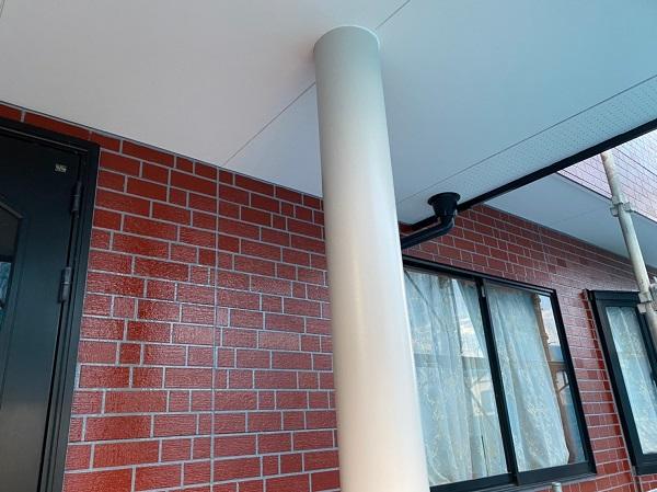 群馬県前橋市 T様邸 外壁塗装・屋根塗装・付帯部塗装 玄関柱・玄関灯・サッシ塗装 工程 (8)