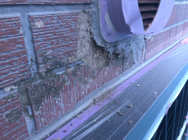 群馬県前橋市 T様邸 外壁塗装・屋根塗装・付帯部塗装 剥がれた外壁の補修 塗装工事を行う目的 (1)