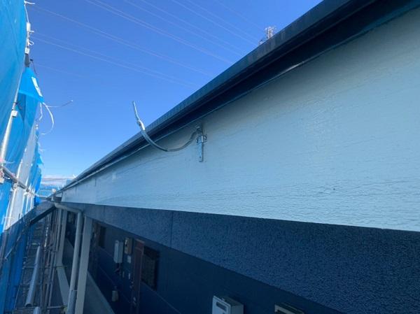 群馬県太田市 Sアパート 外壁塗装・屋根塗装 鼻隠し、破風板塗装 (1)