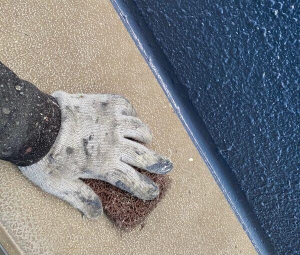 群馬県太田市 Sアパート 外壁塗装・屋根塗装 笠木塗装 GTエポプライマー (12)
