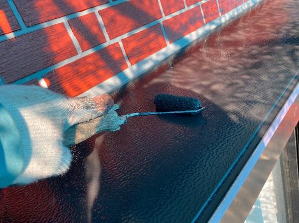 群馬県前橋市 T様邸 外壁塗装・屋根塗装・付帯部塗装 出窓の上 換気フード (9)