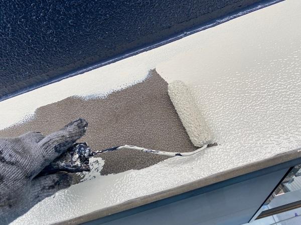 群馬県太田市 Sアパート 外壁塗装・屋根塗装 笠木塗装 GTエポプライマー (11)