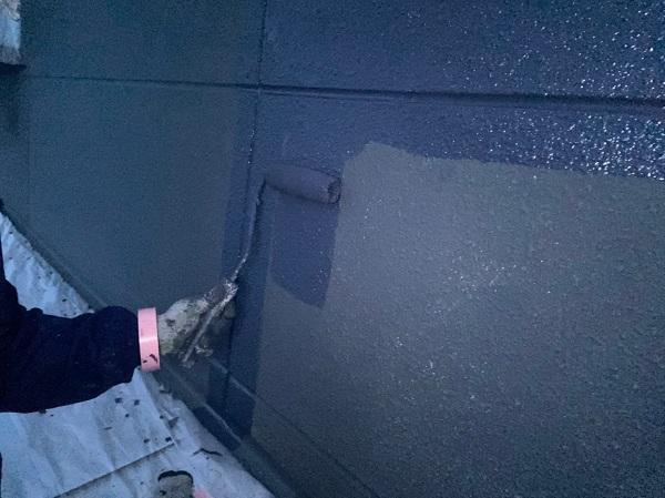 群馬県太田市 Sアパート 外壁塗装・屋根塗装 GWフィーラー微弾性 ガイソーウォールマイティシリコン (1)