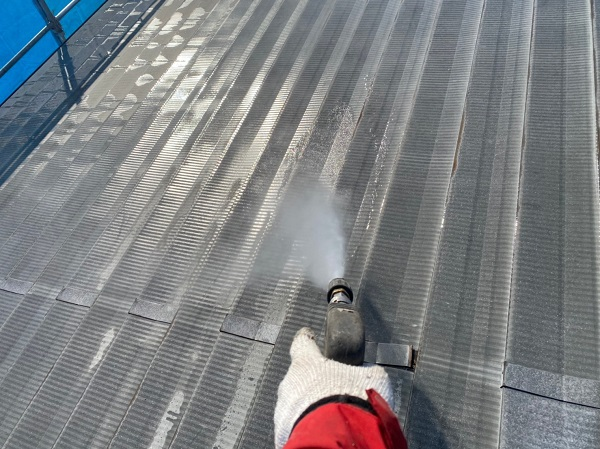 群馬県太田市 Sアパート 外壁塗装・屋根塗装 足場組み立て 高圧洗浄 (7)