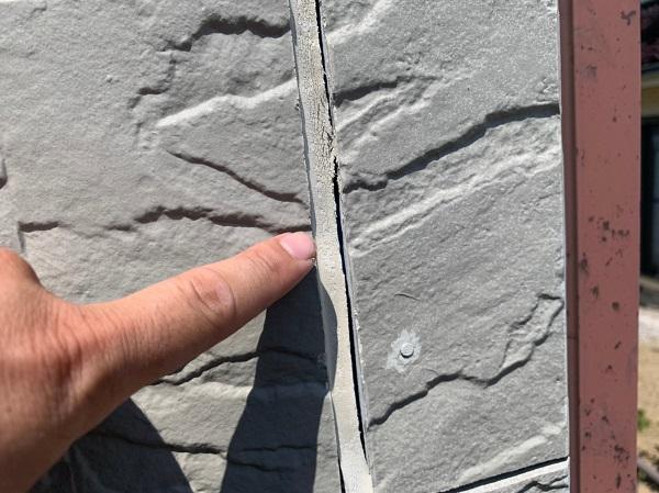 群馬県前橋市 N様邸 外壁塗装 屋根塗装 無料現場調査 チョーキング現象 塗膜の剥がれ シーリング硬化 (3)