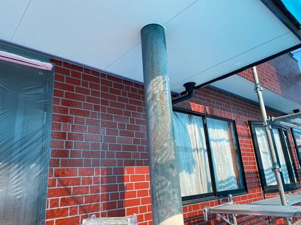 群馬県前橋市 T様邸 外壁塗装・屋根塗装・付帯部塗装 玄関柱・玄関灯・サッシ塗装 工程 (2)