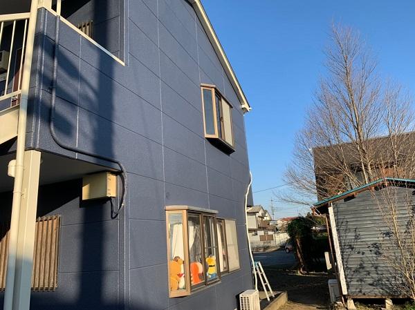 群馬県太田市 Sアパート 外壁塗装・屋根塗装 完工 施工後の写真 (3)
