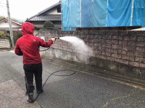 群馬県桐生市 S様邸 外壁塗装・付帯部塗装 下地処理 バイオ高圧洗浄 ガイソーパワークリーナー (8)