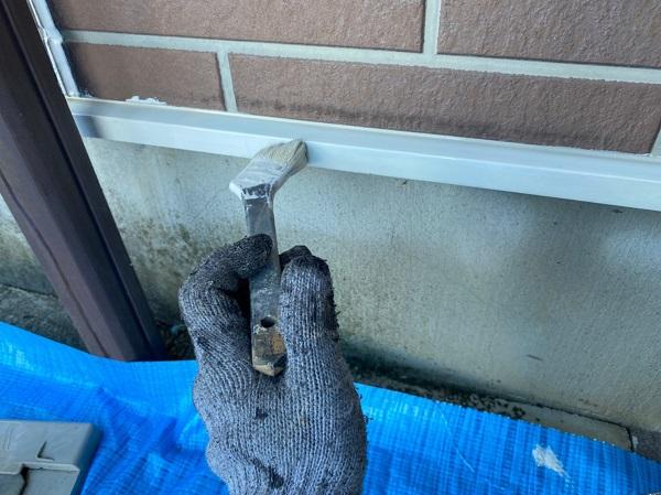 群馬県桐生市 S様邸 外壁塗装・付帯部塗装 雨戸 土台水切り (3)