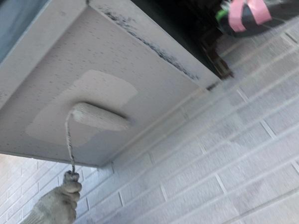 群馬県桐生市 S様邸 外壁塗装・付帯部塗装 ベランダのトップコート塗り替え 軒天の塗装 (5)