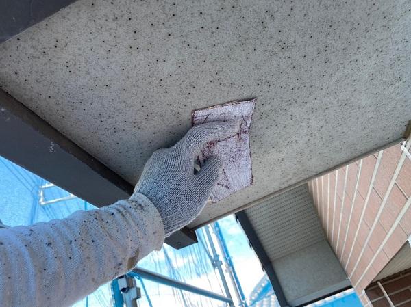 群馬県桐生市 S様邸 外壁塗装・付帯部塗装 ベランダのトップコート塗り替え 軒天の塗装 (3)