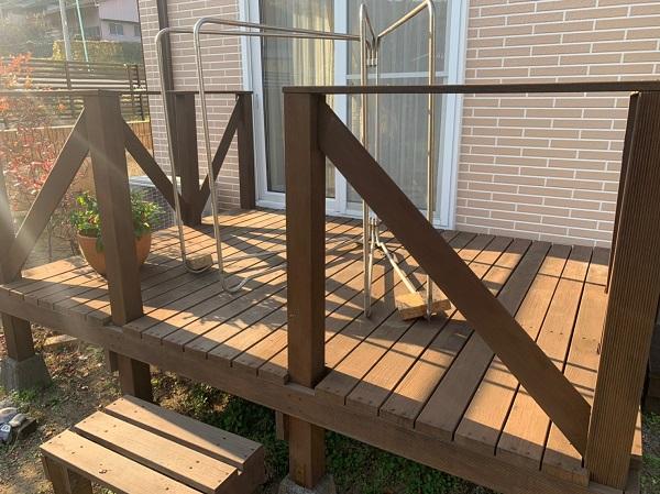 群馬県桐生市 S様邸 外壁塗装・付帯部塗装 破風板塗装 ウッドデッキ塗装 (3)