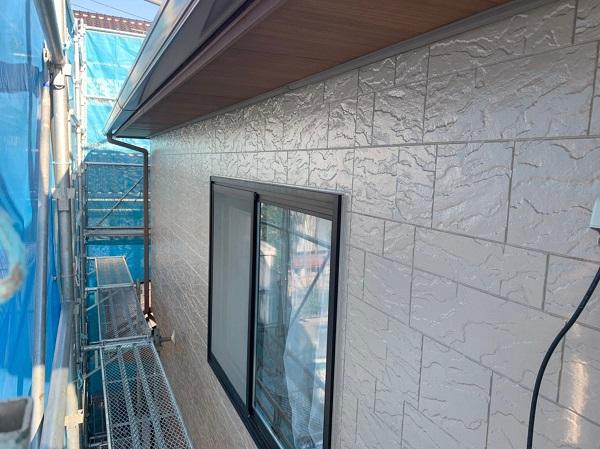 群馬県前橋市 N様邸 外壁塗装 屋根塗装 付帯部塗装 外壁2階塗装 ガイソーウォール無機フッ素 (4)