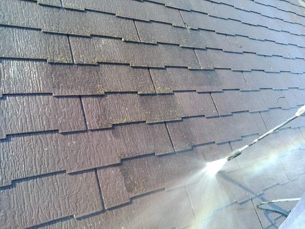 群馬県前橋市 N様邸 外壁塗装 屋根塗装 足場設置 飛散防止ネット 高圧洗浄1 (3)