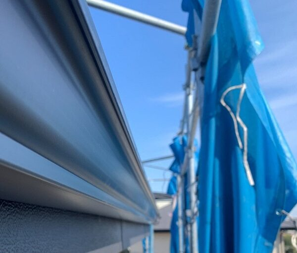 群馬県伊勢崎市 N様邸 屋根塗装 外壁塗装 雨樋・鼻隠し塗装 軒樋交換 (5)