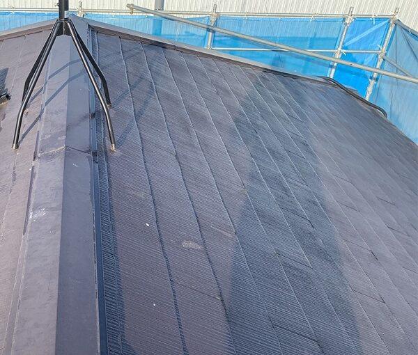 群馬県伊勢崎市 N様邸 屋根塗装 外壁塗装 施工前の状態② 屋根の劣化症状 カビの危険性 (2)