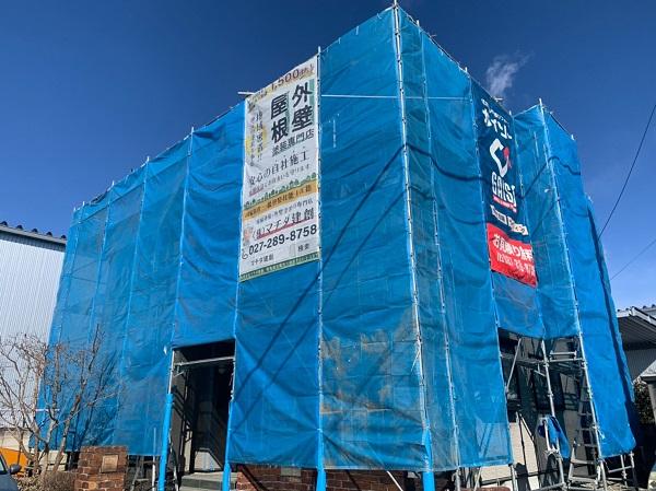 群馬県伊勢崎市 N様邸 屋根塗装 外壁塗装 足場組み立て バイオ洗浄 (5)