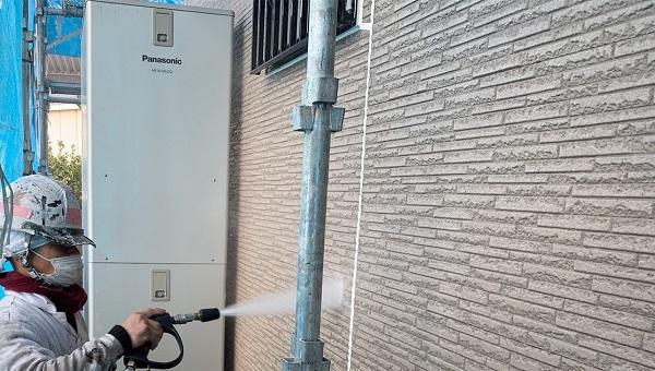 群馬県伊勢崎市 N様邸 屋根塗装 外壁塗装 足場組み立て バイオ洗浄 (1)