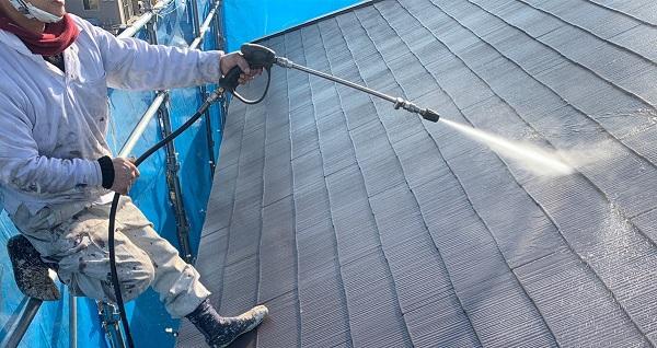 群馬県伊勢崎市 N様邸 屋根塗装 外壁塗装 足場組み立て バイオ洗浄 (2)