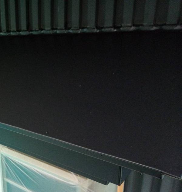 群馬県伊勢崎市 S様邸 外壁塗装・屋根塗装・付帯部塗装 霧除け庇塗装、エアコンホースカバー塗装 (3)