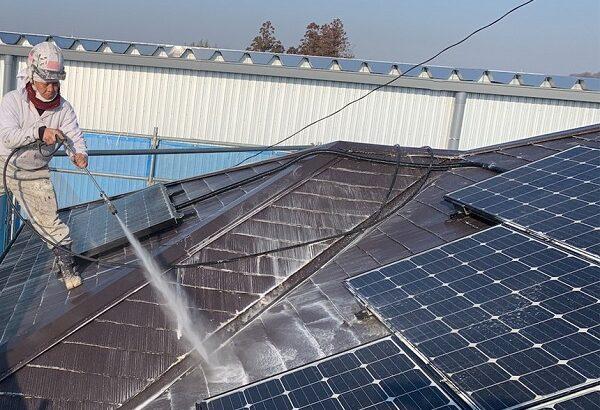 群馬県伊勢崎市 N様邸 屋根塗装 外壁塗装 足場組み立て バイオ洗浄 (3)