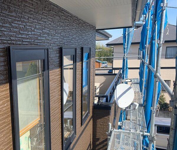群馬県伊勢崎市 N様邸 屋根塗装 外壁塗装 2色仕上げ 日本ペイント パーフェクトトップ ラジカル制御式1 (2)