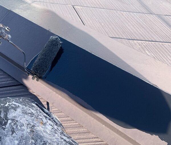 群馬県伊勢崎市 N様邸 屋根塗装 外壁塗装 棟板金の補修・塗装 GTエポプライマー (3)