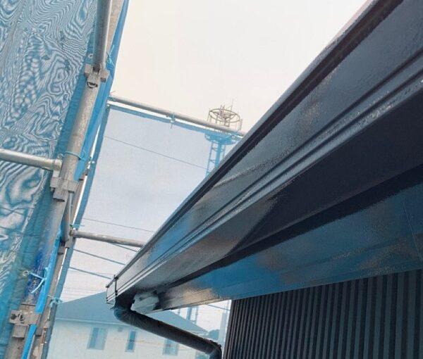 群馬県伊勢崎市 S様邸 外壁塗装・屋根塗装・付帯部塗装 雨樋、鼻隠し塗装 (2)