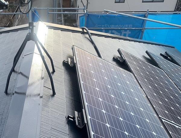 群馬県伊勢崎市 N様邸 屋根塗装 外壁塗装 スレート屋根 縁切りとは 日本ペイント パーフェクトベスト (2)