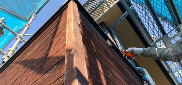 群馬県伊勢崎市 S様邸 外壁塗装・屋根塗装・付帯部塗装 木部塗装 浸透タイプと造膜タイプの違い (2)