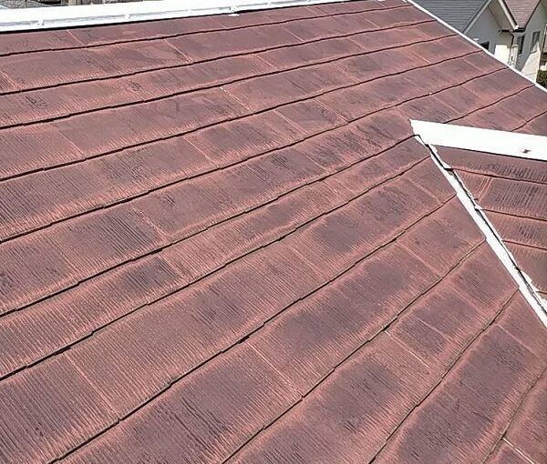 群馬県佐波郡玉村町 K様邸 屋根塗装 基礎補修 タスペーサー設置 下塗り 関西ペイント 浸透形Mシーラー (5)