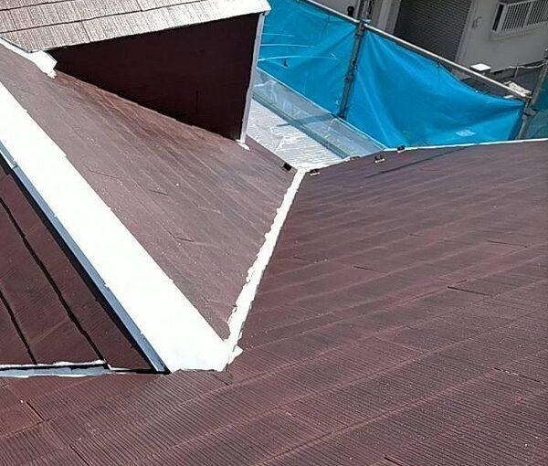 群馬県佐波郡玉村町 K様邸 屋根塗装 基礎補修 タスペーサー設置 下塗り 関西ペイント 浸透形Mシーラー (10)
