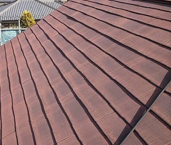 群馬県佐波郡玉村町 K様邸 屋根塗装 外壁補修 施工前の状況 スレート屋根の塗装時期