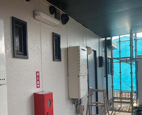 群馬県邑楽郡 アパート 屋根塗装・外壁塗装・付帯部塗装 ガイソーウォールカチオンシーラーNEO ガイソーウォールマイティシリコン (1)