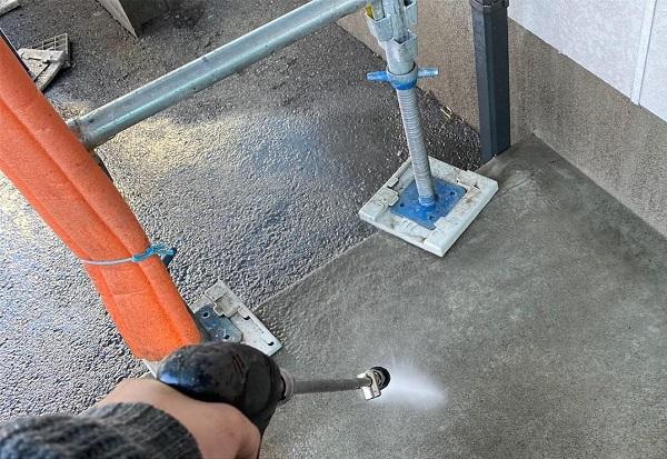 群馬県邑楽郡 アパート 屋根塗装・外壁塗装・付帯部塗装 バイオ洗浄 水養生 (3)