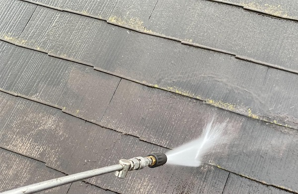 群馬県邑楽郡 アパート 屋根塗装・外壁塗装・付帯部塗装 バイオ洗浄 水養生 (9)