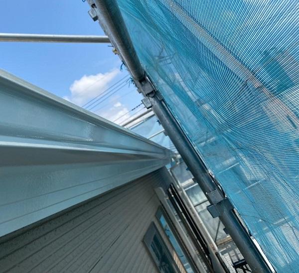 群馬県前橋市 G様邸 外壁塗装・付帯部塗装 雨樋の塗装 縦樋、軒樋 (3)