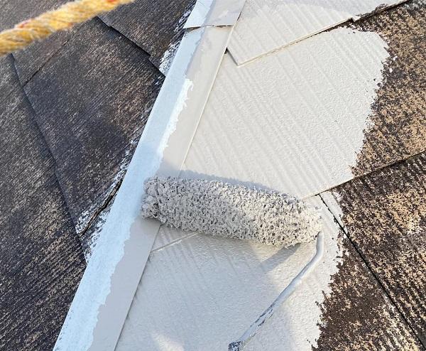 群馬県邑楽郡 アパート 屋根塗装・外壁塗装・付帯部塗装 ガイソールーフシーラーマイルド ガイソールーフガードシリコン (7)