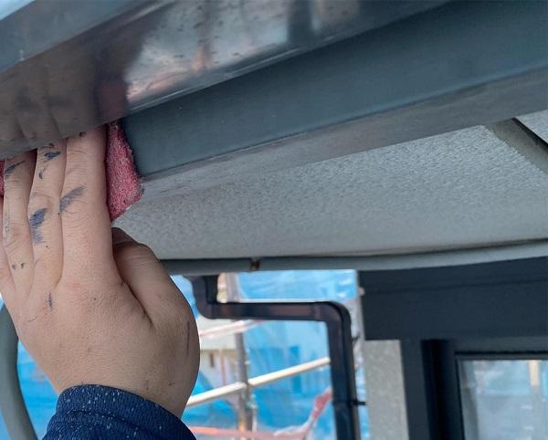群馬県邑楽郡 アパート 屋根塗装・外壁塗装・付帯部塗装 鼻隠し 手抜き業者にご注意ください! (2)