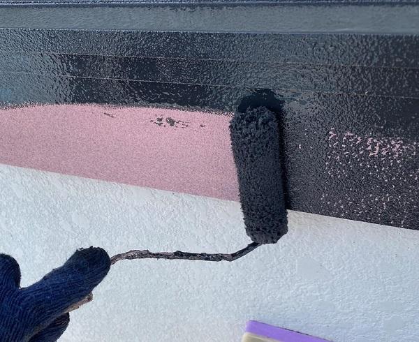 群馬県邑楽郡 アパート 屋根塗装・外壁塗装・付帯部塗装 幕板、隔板塗装 (3)