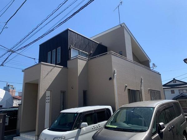 群馬県前橋市 G様邸 外壁塗装・付帯部塗装 施工前の状態 チョーキング現象 (9)