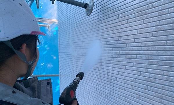 群馬県高崎市 I様邸 外壁塗装・付帯部塗装 足場設置 高圧洗浄 (3)