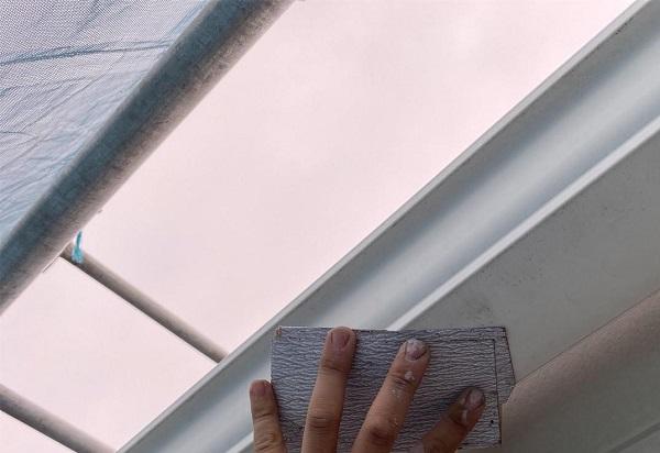 群馬県前橋市 G様邸 外壁塗装・付帯部塗装 雨樋の塗装 縦樋、軒樋 (8)